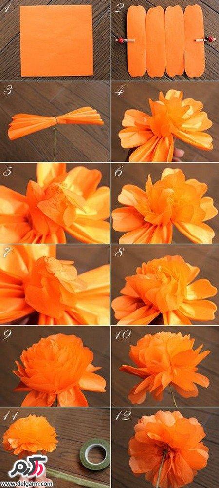 Photo of آموزش درست کردن گل با کاغذ روغنی