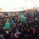 مراسم تعزیه خوانی و نخل برداری در محله مهرجرد شهرستان میبد