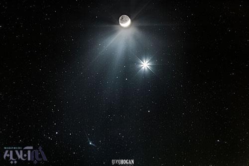 تصویر از همنشینی ماه و ناهید و کاتالینا/عکس