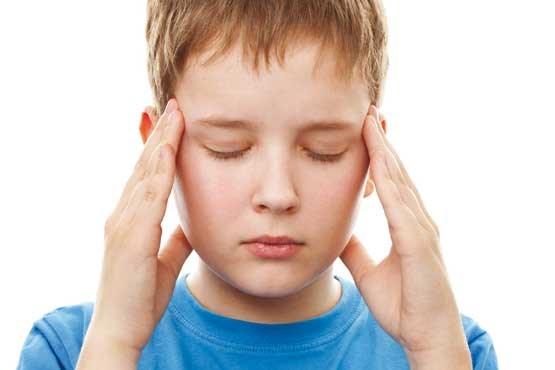 تصویر از وقتی کودک سردرد میگیرد…