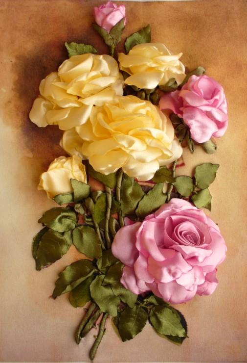 تصویر از گل رز روبانی