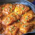 ماهی با سس گوجه فرنگی