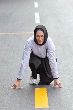 تصویر از لیلا ابراهیمی، دختر رکوردشکن