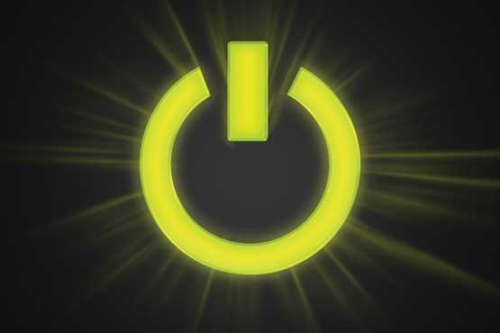 تصویر از رایانه در حال خاموش شدن است