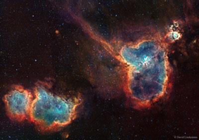 تصویر از قلب و روح در فضا/عکس روز ناسا