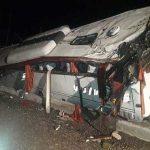 اعلام اسامی مجروحان حادثه اتوبوس زائران یزدی/ ۲۸ نفر کشته شدند