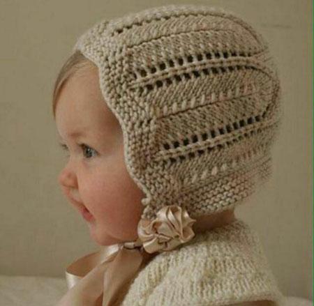 تصویر از روش بافت کلاه نوزادی