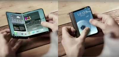 تصویر از ورود گوشیهای لمسی تاشو به بازار