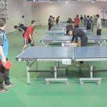 رقابت فرهنگیان استان در مسابقات تنیس روی میز