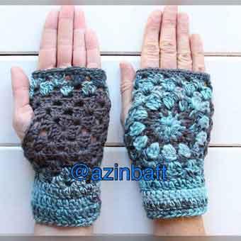 تصویر از بافت یک مدل دستکش