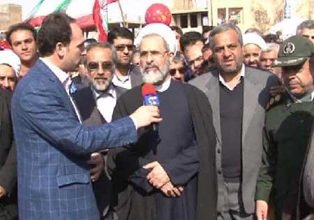 تصویر از تجلی حضور مردم میبد در راهپیمایی ۲۲ بهمن