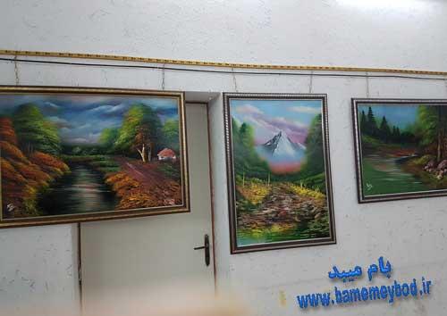 تصویر از برگزاری نمایشگاه نقاشی در شهرستان میبد