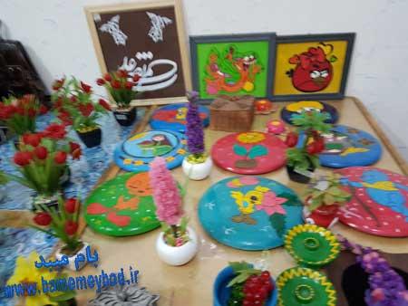 تصویر از برگزاری نمایشگاه هنرهای دستی معلولان و سالمندان درشهرستان میبد