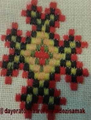 تصویر از هنر زیبای شیدا یا شش تاری از سری دوختهای سوزندوزی بلوچ