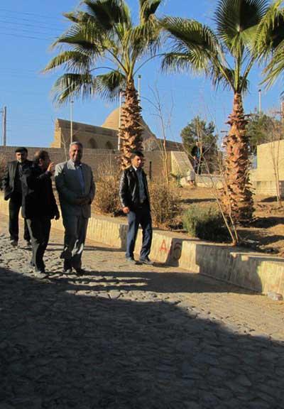 تصویر از شهر میبد میزبان اعضای کنوانسیون جهانگردی /بازدید فرماندار میبد از مراحل آماده سازی اماکن تاریخی
