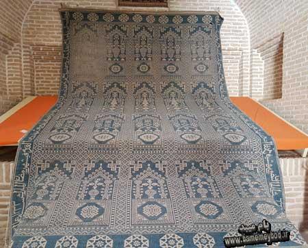 تصویر از فرشی با عنوان فرش سلامت / معرفی شغل زیلو بافی