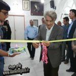 افتتاح نمایشگاه نقاشی روی سرامیک در فرهنگسرای میبد