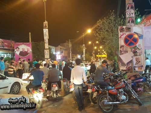 Photo of تصاویری از شور و شوق انتخاباتی در شب آخر تبلیغات در شهرستان میبد
