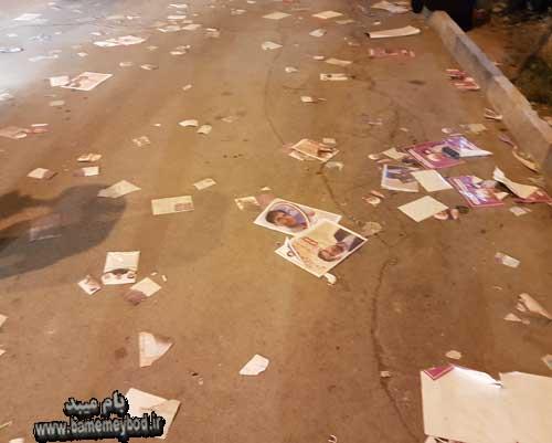تصویر از کمر خم کردن برای برداشتن کاغذ / ارمغان تبلیغات انتخاباتی با حجم بالا برای قشر زحمت کش رفتگر