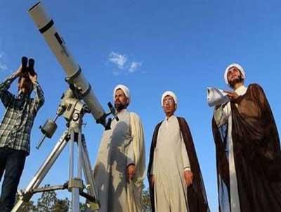 تصویر از چهار گروه استهلال در یزد، هلال ماه رمضان را رصد می کنند