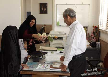 """Photo of تبریک روز معلم توسط دانش آموزان دبستان دخترانه """"مهر ایران زمین"""""""