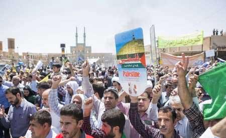تصویر از طنین فریاد مرگ بر آمریکا و مرگ بر اسراییل در استان یزد