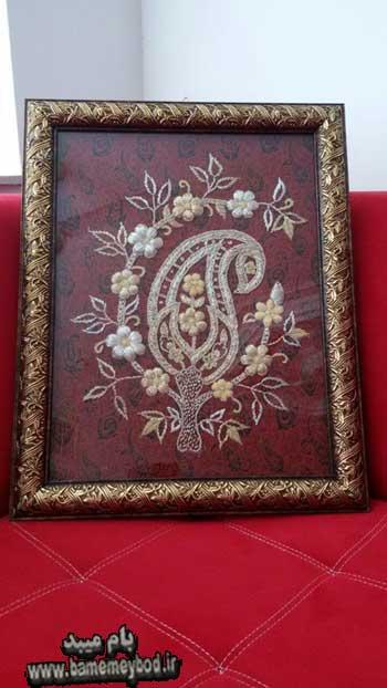 تصویر از تصاویری زیبا از هنر سرمه دوزی و کار دست بر روی لباس