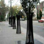 طرح خلاقانه باغچه های منفرد خیابانی