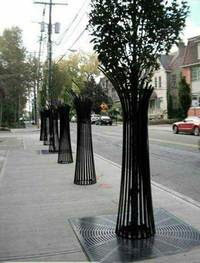 تصویر از طرح خلاقانه باغچه های منفرد خیابانی