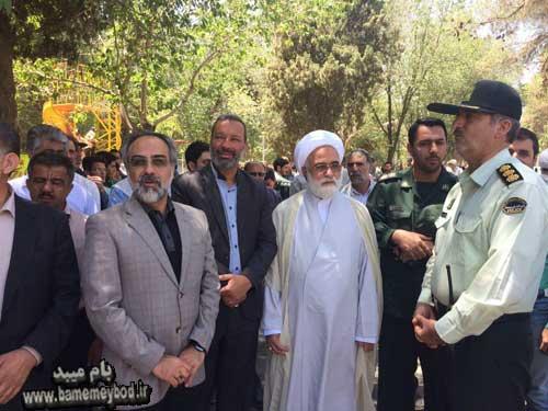 تصویر از حضور نائب رئیس کمیسیون امنیت ملی و سیاست خارجی مجلس در راهپیمایی روز قدس در شهرستان تفت