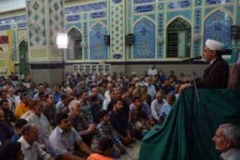 تصویر از برگزاری مراسم ایام شهادت رئیس مذهب تشیع در شهرستان میبد