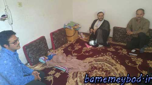 تصویر از بازدید مسئولین بهزیستی و امام جمعه موقت میبد از منزل معلولین و زنان سرپرست خانوار