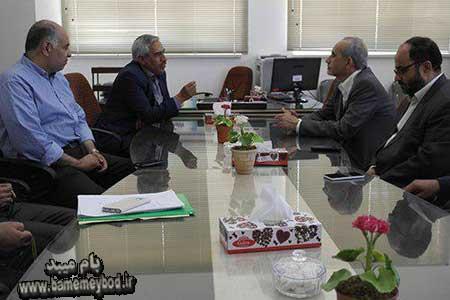 تصویر از بازدید رئیس و معاونین دانشگاه اردکان از دانشگاه آیت الله حائری میبد