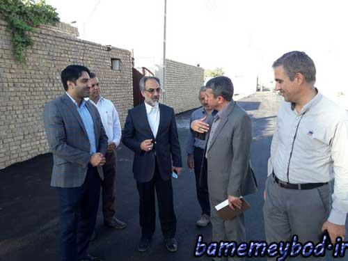 تصویر از بازدید نماینده مردم تفت و میبد در مجلس شورای اسلامی از طرح های در حال اجرا در بخش رکن آباد شهرستان میبد