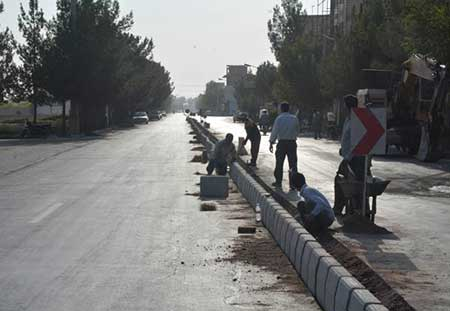 Photo of گزارش تصویری از احداث رفوژ خیابان آیتالله اعرافی میبد