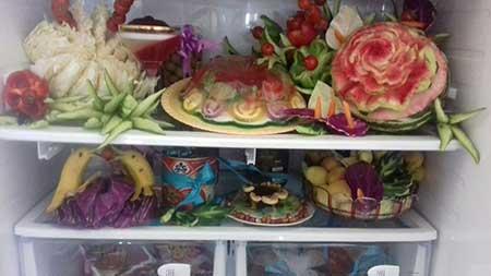 تصویر از تصاویری از سفره آرایی و تزئین غذا با هنرمندی هنرجویان کلاسهای آشپزی و سفره آرایی شهرستان میبد