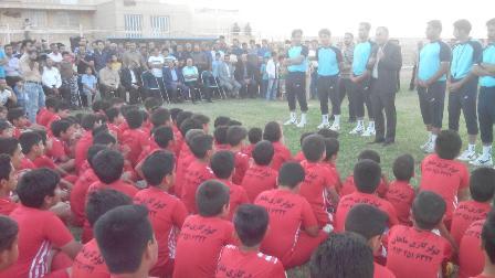 Photo of حضور مجید جلالی در آکادمی فوتبال مهربد در شهرستان میبد