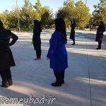 برگزاری برنامه ورزش صبحگاهی بانوان در پارک بانوان میبد