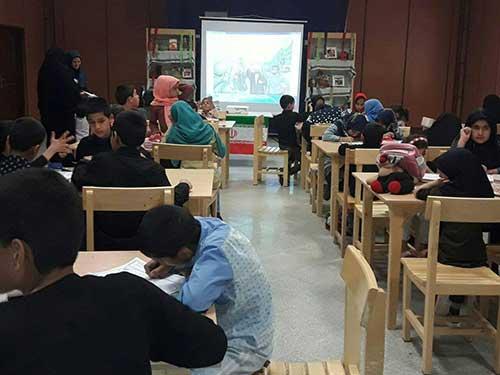 Photo of برگزاری مسابقه نقاشی در کتابخانه مرکزی میبد به مناسبت هفته دفاع مقدس