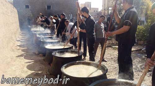 تصویر از تصاویری از پخت آش حسین در بیت الزهرا بشنیغان میبد
