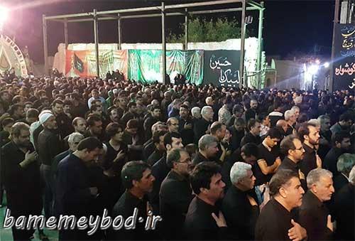 Photo of تصاویری  از برگزاری مراسم شب تاسوعای حسینی در امامزاده سید صدرالدین قنبر شهرستان میبد