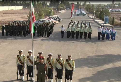 تصویر از صبحگاه مشترک نیروهای مسلح به مناسبت هفته ناجا در میبد/ آمار تصادفات در میبد نگران کننده می باشد