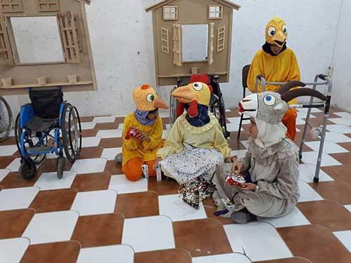 تصویر از تمرین تئاتر آش پس پایی در فرهنگسرای شهرستان میبد / تئاتر راهی است برای رشد خلاقیت فکری و هنری معلولین