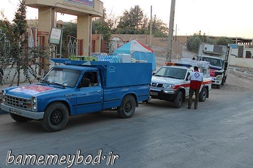 تصویر از ارسال کمک های مردمی شهرستان میبد به مناطق زلزله زده غرب کشور