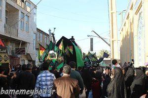 تصاویری از مراسم نخل برداری در محله مهرجرد شهرستان میبد