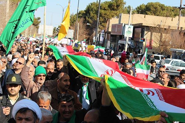 تصویر از تصاویری از راهپیمایی همبستگی و بصیرت در شهرستان میبد
