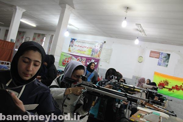 برگزاری مسابقات تیراندازی استانی ویژه بانوان در شهرستان میبد