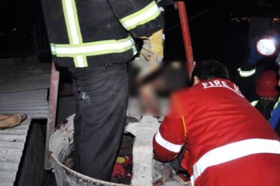 تصویر از مرگ دلخراش ۲ کودک بجنوردی در حین کار بلوک زنی