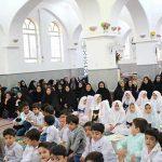 برگزاری جشن نماز و پایان سال پیش دبستانی بشری مصلی در امامزاده میر شمس الحق میبد