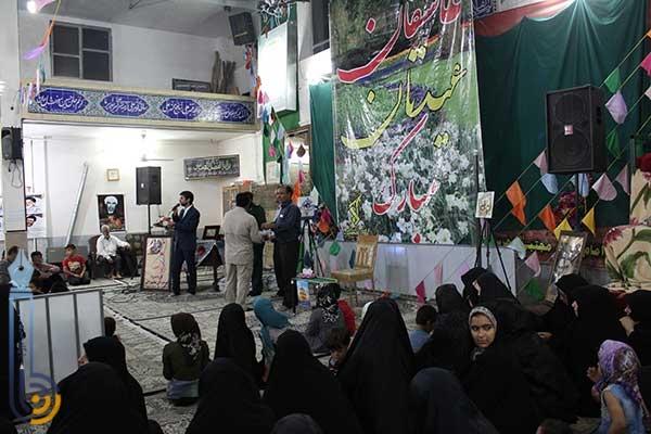 تصویر از برگزاری مراسم جشن در حسینیه علی آباد میبد به مناسبت میلاد حضرت امام رضا (ع) / نمایشگاهی از تولیدات فعالین مشاغل خانگی